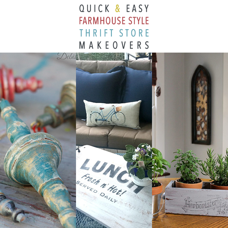 Quick and Easy Farmhouse Style Thrift Store Makeovers