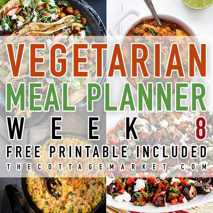 Vegetarian Meal Planner Week 8
