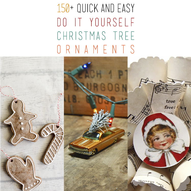 Diy christmas ornaments archives the cottage market 150 quick and easy diy christmas tree ornaments solutioingenieria Choice Image