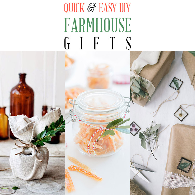 Quick and Easy DIY Farmhouse Gifts