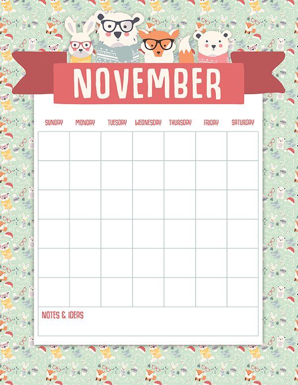 Get a head start on your christmas planning with this november page of the christmas planner