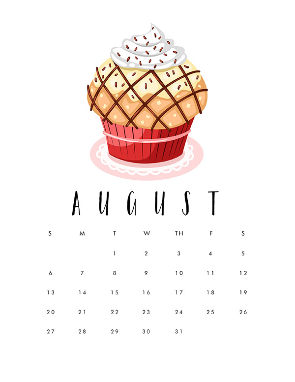 Free Printable 2017 Cupcake Calendar   The Cottage Market
