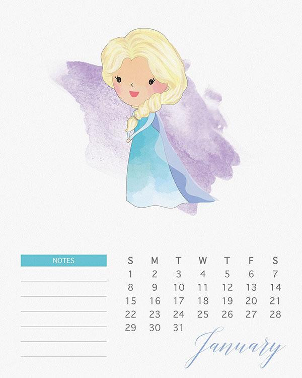 Formal calendar, january 2017