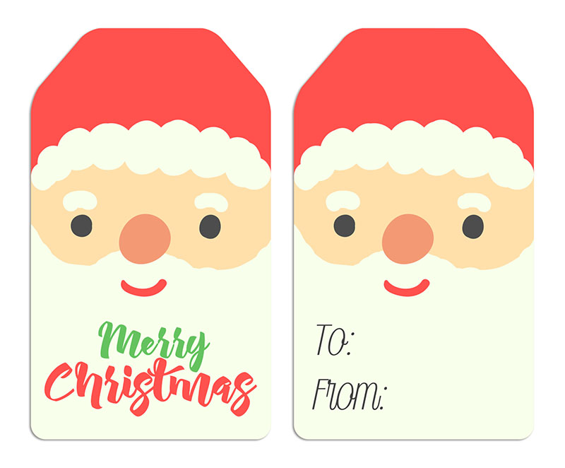 photo about Printable Santa Claus titled Cost-free Printable Santa Claus Tags - The Cottage Market place