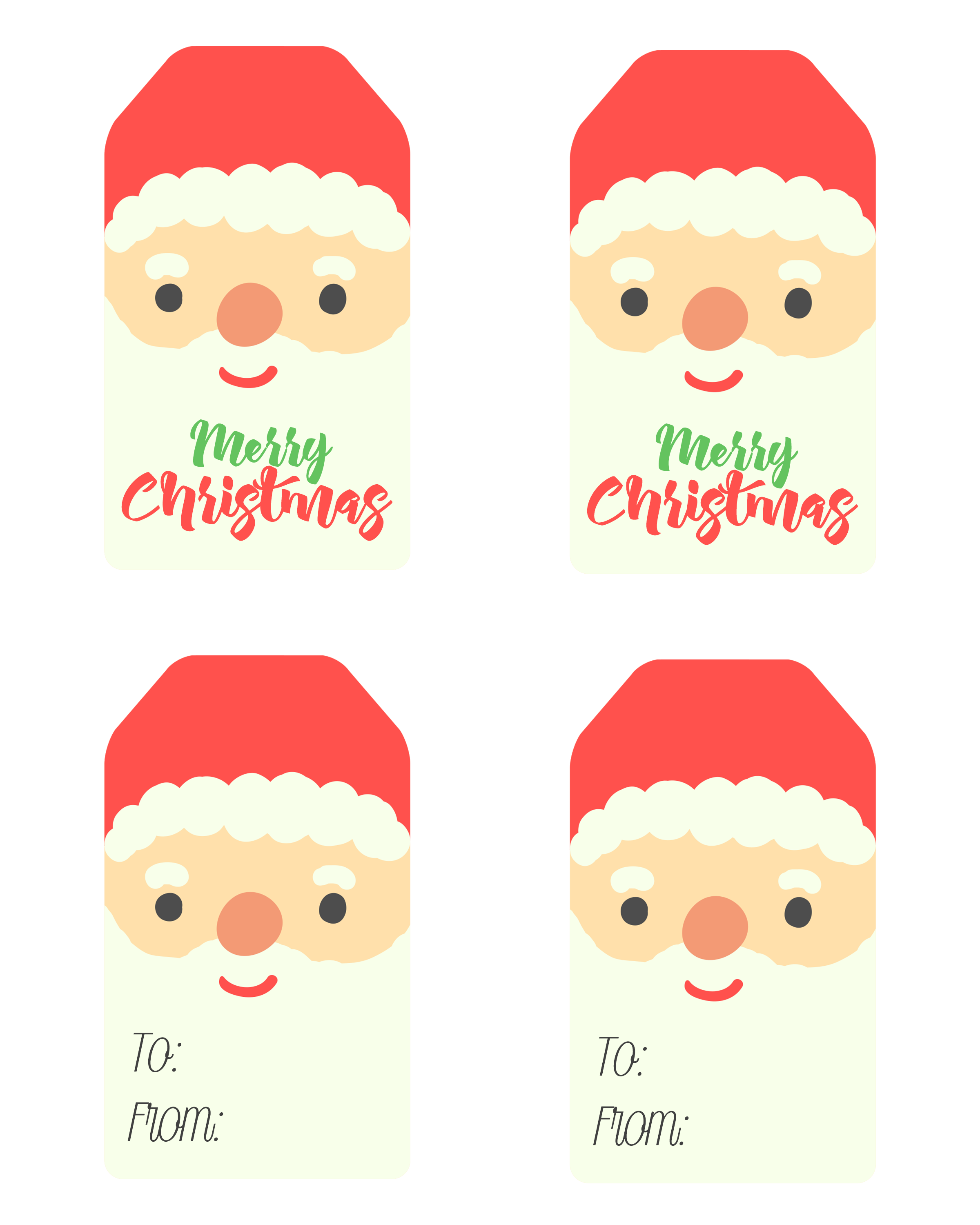 free printable santa claus tags - Printable Santa Claus Pictures
