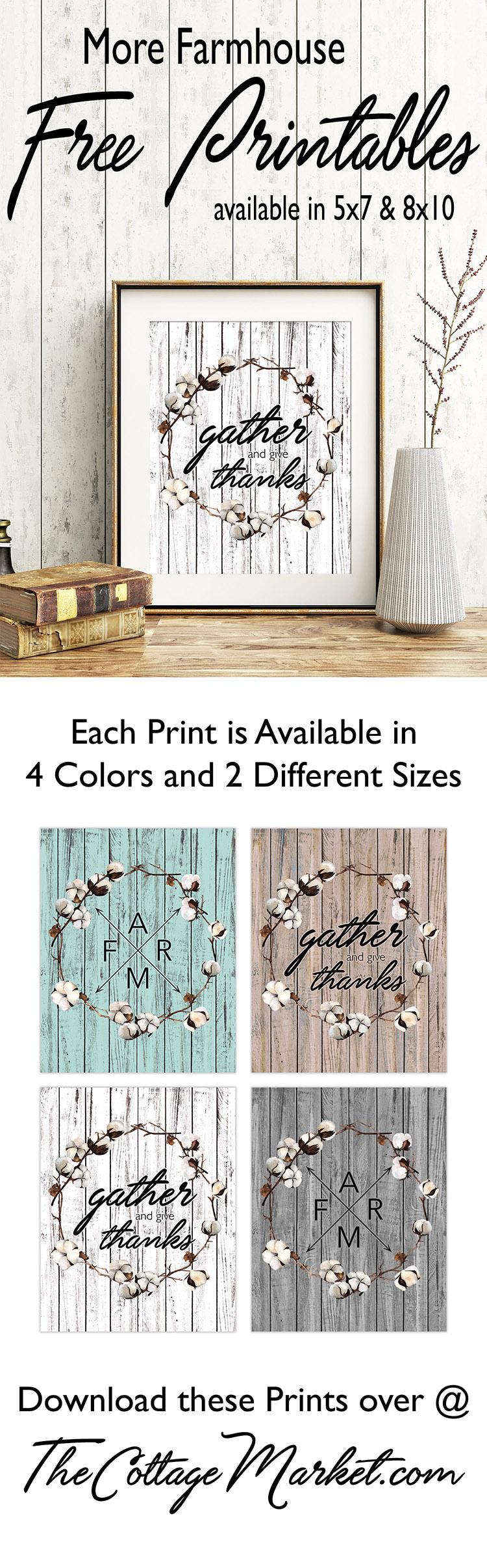 Free Home Decor Prints