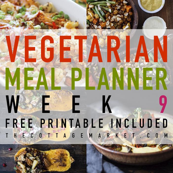 Vegetarian Meal Planner Week 9