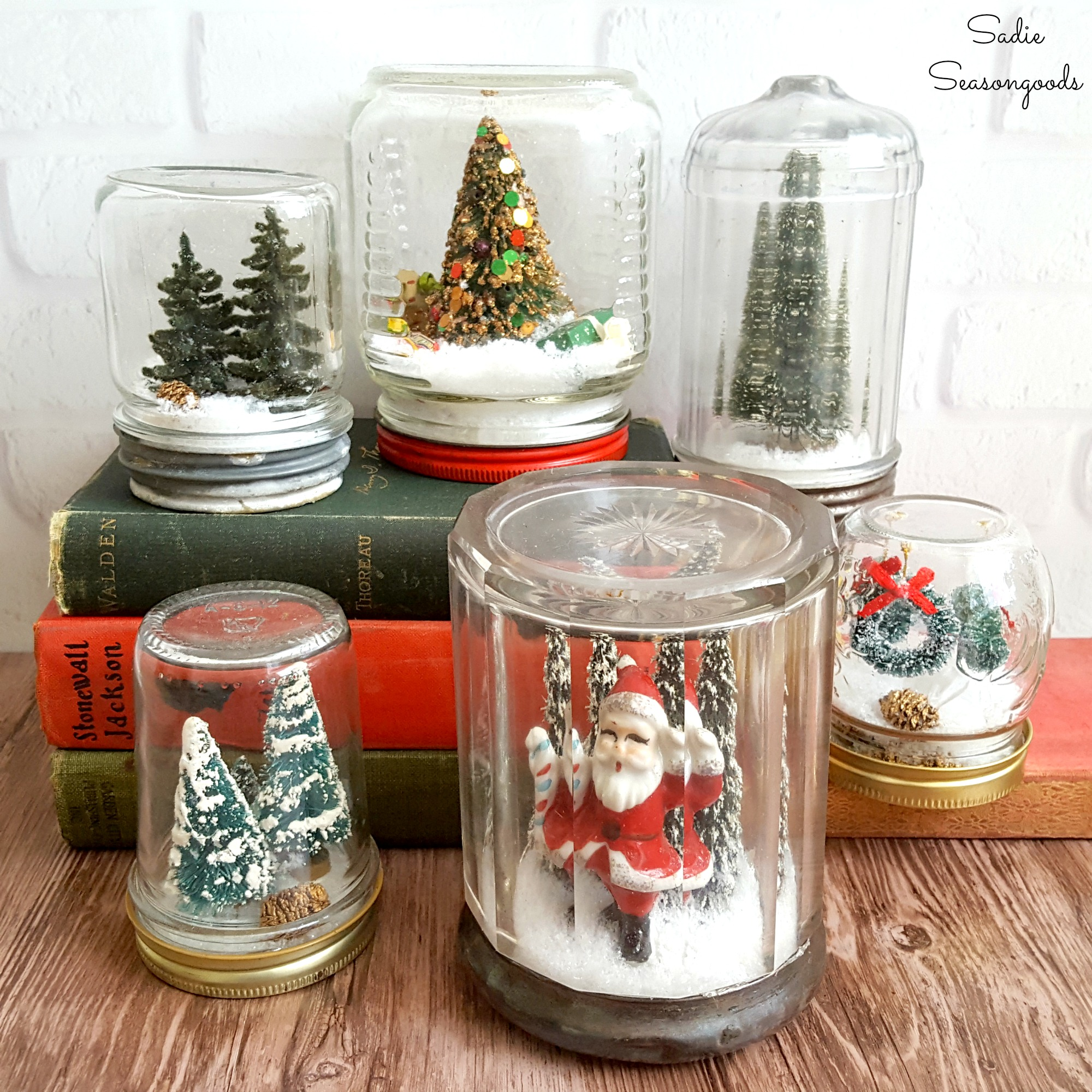 DIY_Waterless_Christmas_snowglobes_using_vintage_mason_jars_and_bottle_brush_trees_by_Sadie_Seasongoods