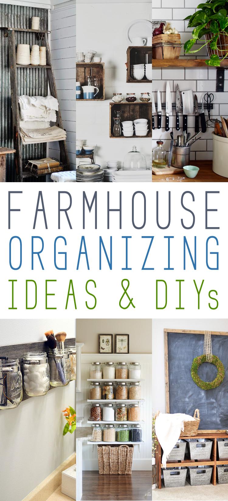 Farmhouse Decor Clean Crisp Organized Farmhouse: Fresh Farmhouse Storage Ideas And DIYs