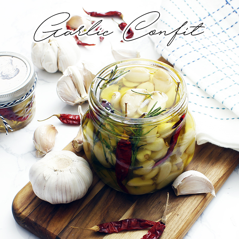 DIY Garlic Confit a Secret WOW Ingredient Gift In A Jar