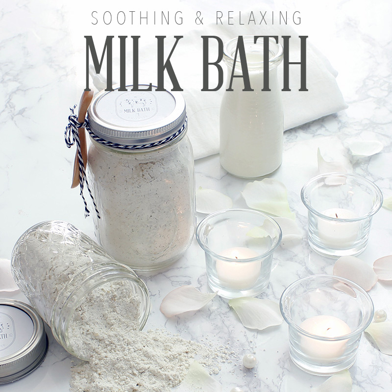 DIY Milk Bath  //  Gifts In A Jars