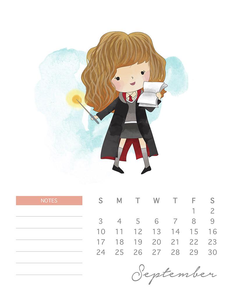 Hermione Granger - Harry Potter Calendar - September 2017