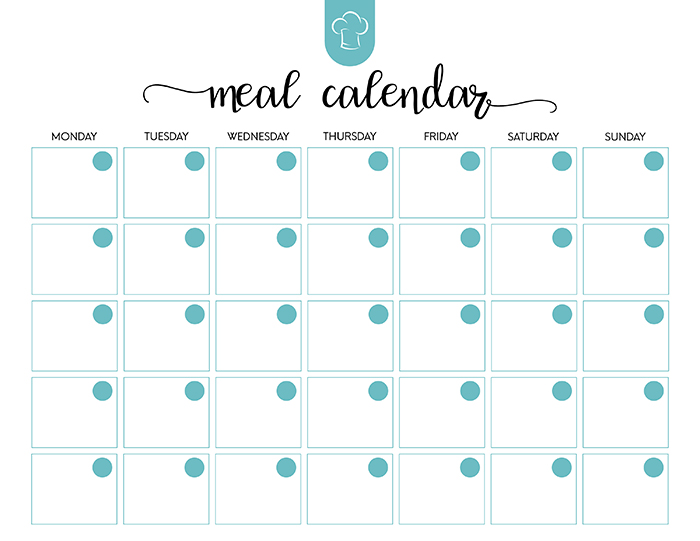 picture about Printable Meal Calendar identify Absolutely free Printable Supper Planner Mounted - The Cottage Marketplace
