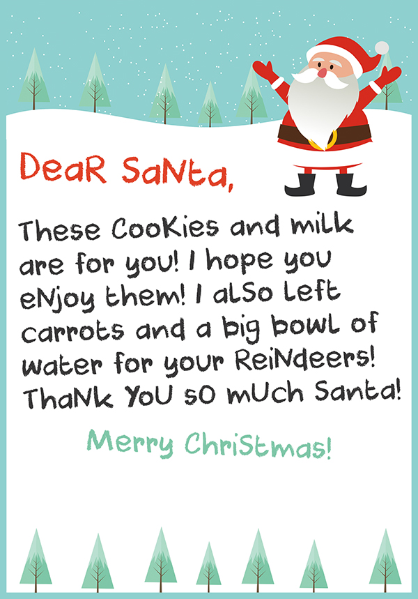 Printable thank you note from santa for cookies and milk drive preview 3 thank you letter to santa expocarfo Image collections