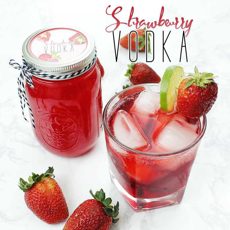 Strawberry Vodka // Gifts In Jars