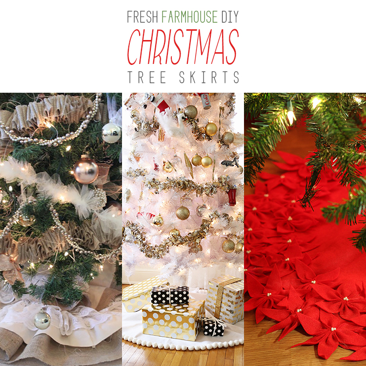Fresh Farmhouse DIY Christmas Tree Skirts