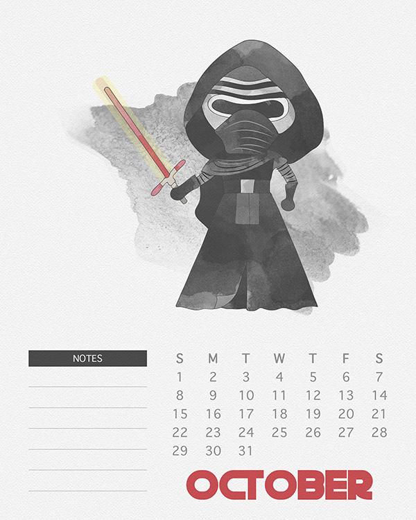 Formal calendar, October 2017