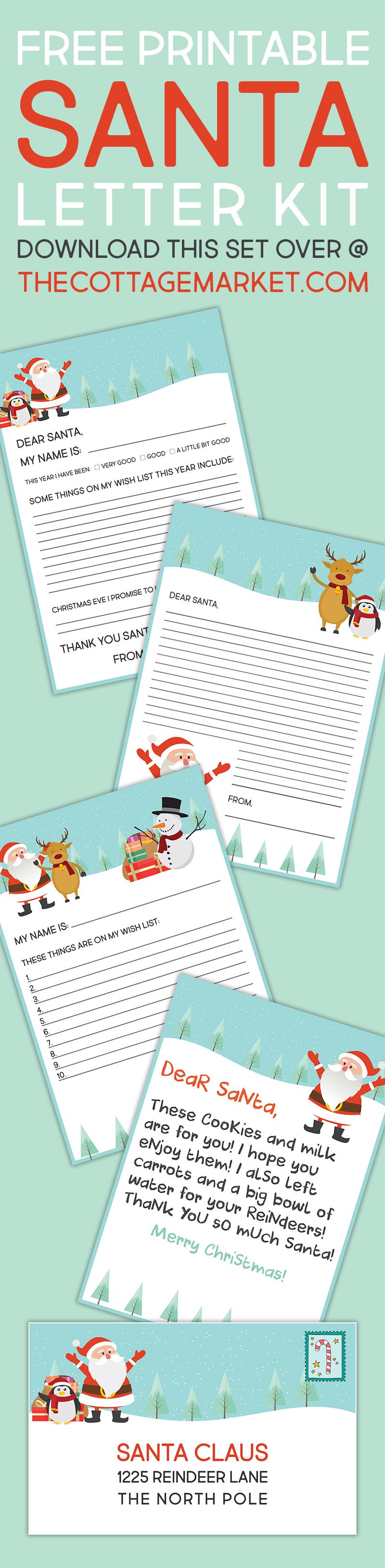 Free printable santa letter kit the cottage market tcm dearsantakit letter tower 1 spiritdancerdesigns Images
