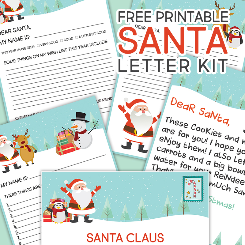 Free printable santa letter kit the cottage market spiritdancerdesigns Image collections