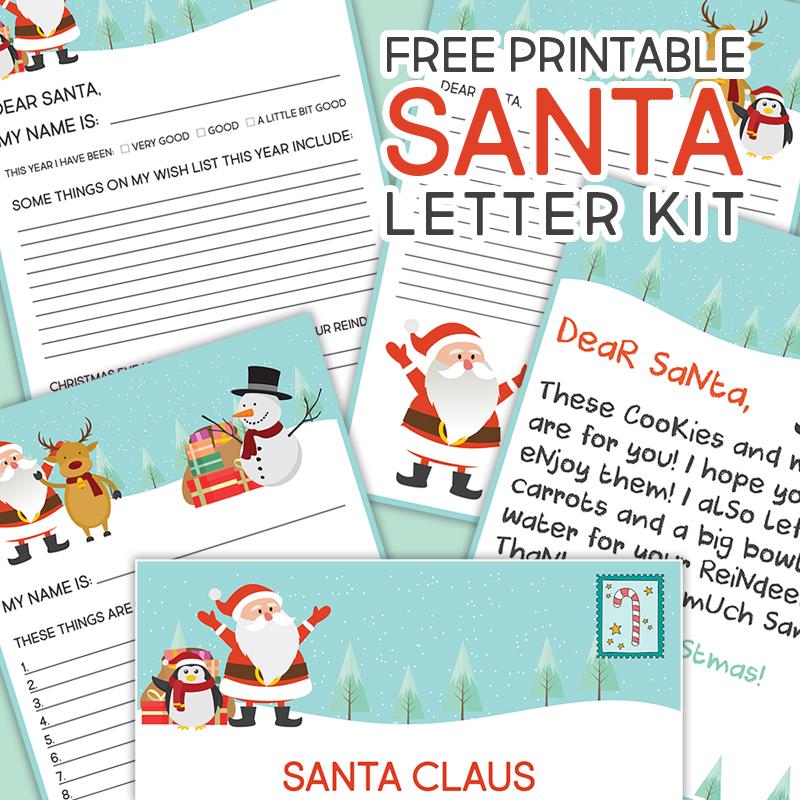 Free printable santa letter kit the cottage market spiritdancerdesigns Images
