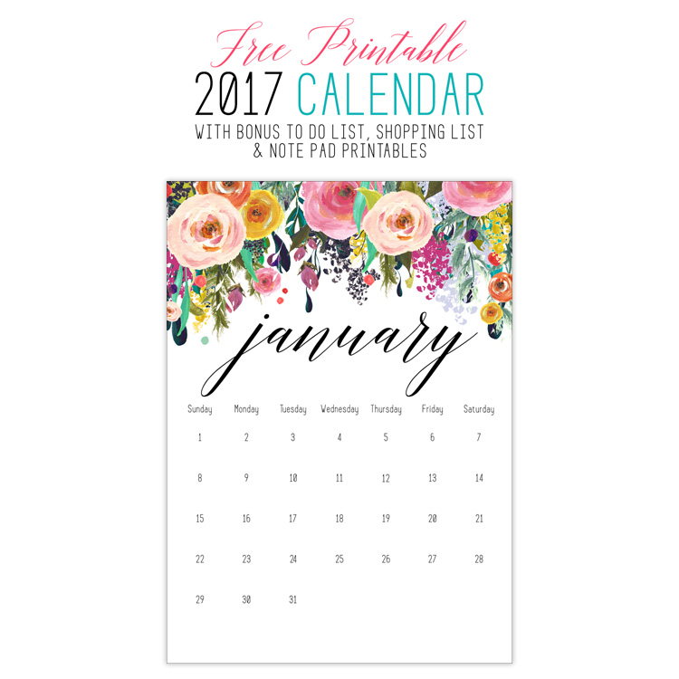 Free Printable Calendar Archives - The Cottage Market