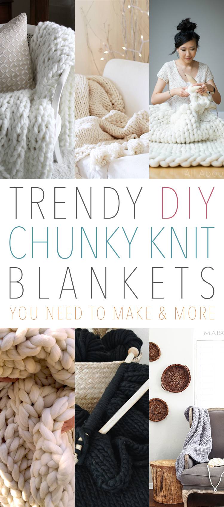 Trendy DIY Chunky Knit Blankets Perfect for Cold Weather and Cozy Days