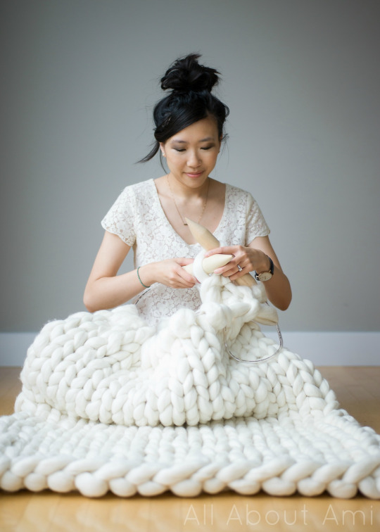 This large cable knit blanket is so warm and cozy!