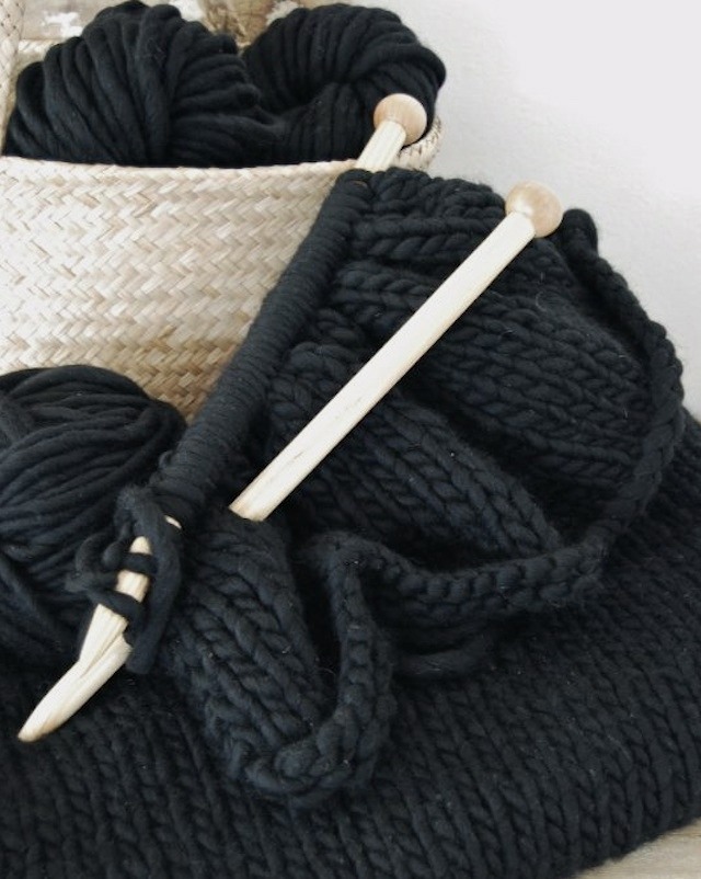 This warm wool blanket is the perfect weekend project