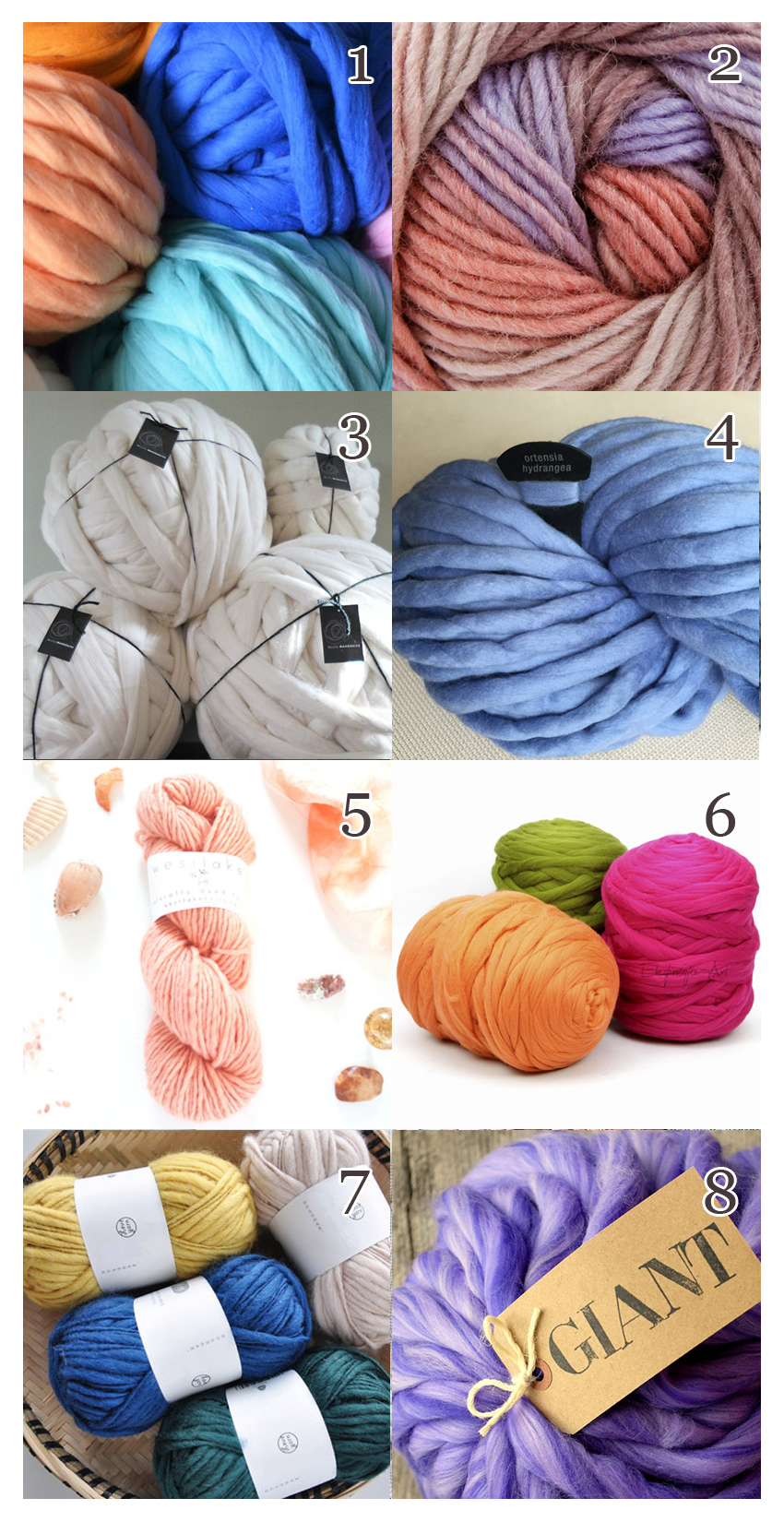 Here's a great supply list if you want to knit your own blanket - some affordable wool and knitting yarn
