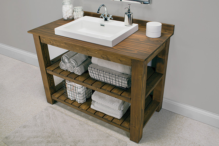 Canu0027t Find The Perfect Farmhouse Bathroom Vanity? DIY IT