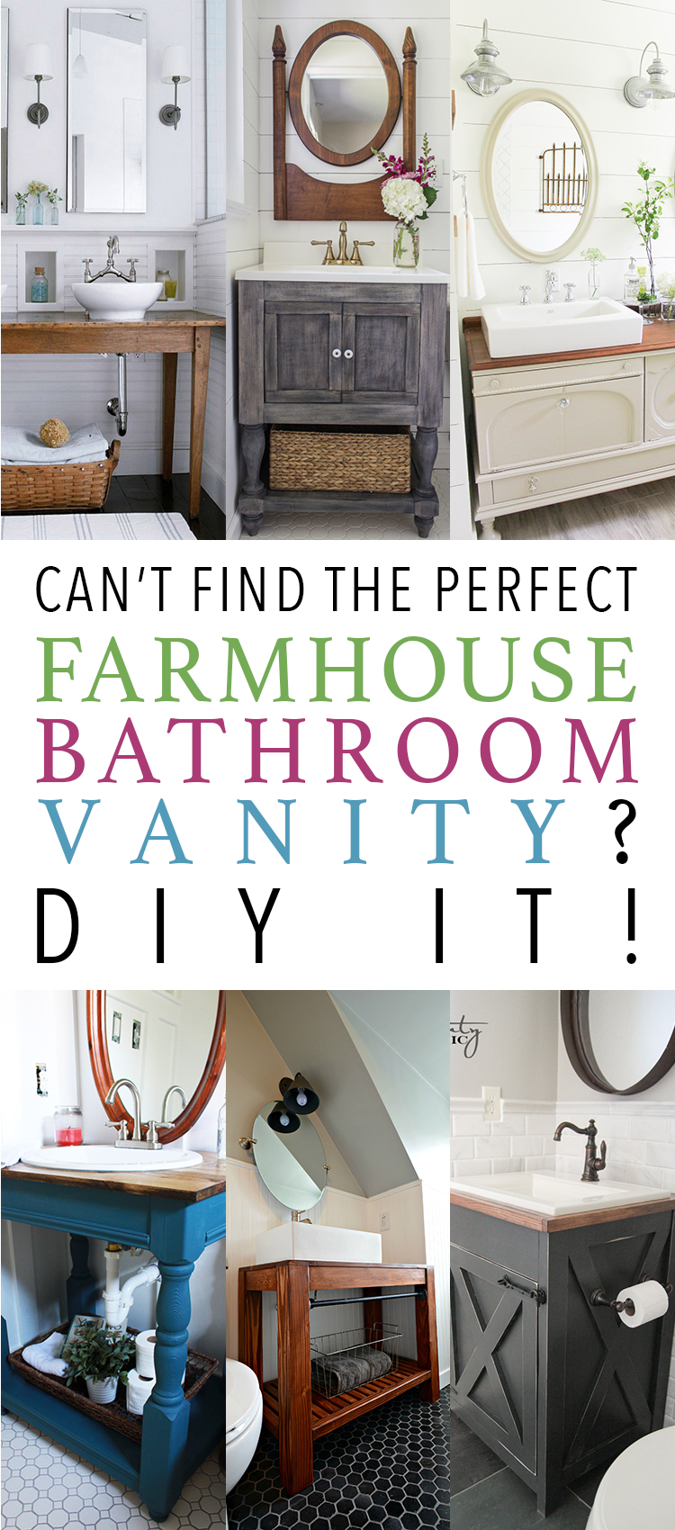 Use these tips to DIY your perfect farmhouse bathroom vanity.