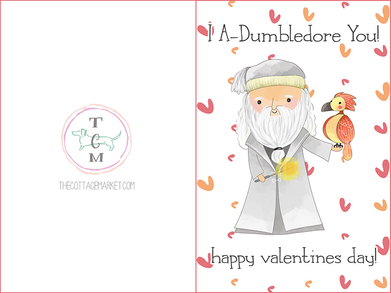 Free Printable Harry Potter Valentines Day Cards The Cottage Market – Valentine Day Cards Printable