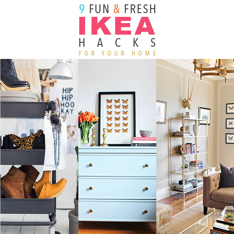 9 fun and fresh ikea hacks for your home the cottage market. Black Bedroom Furniture Sets. Home Design Ideas