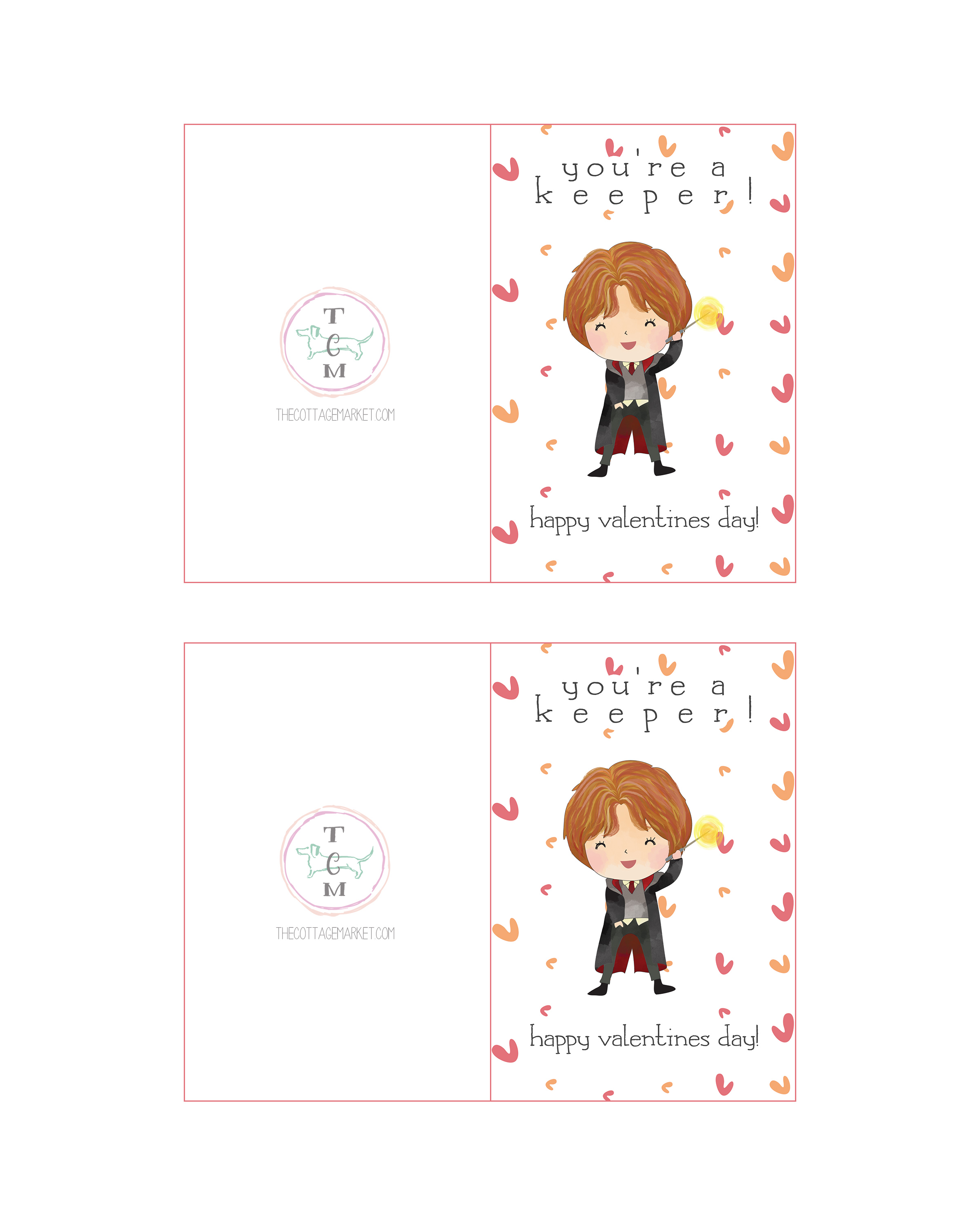 Harry Potter Card. Ron Weasley Card