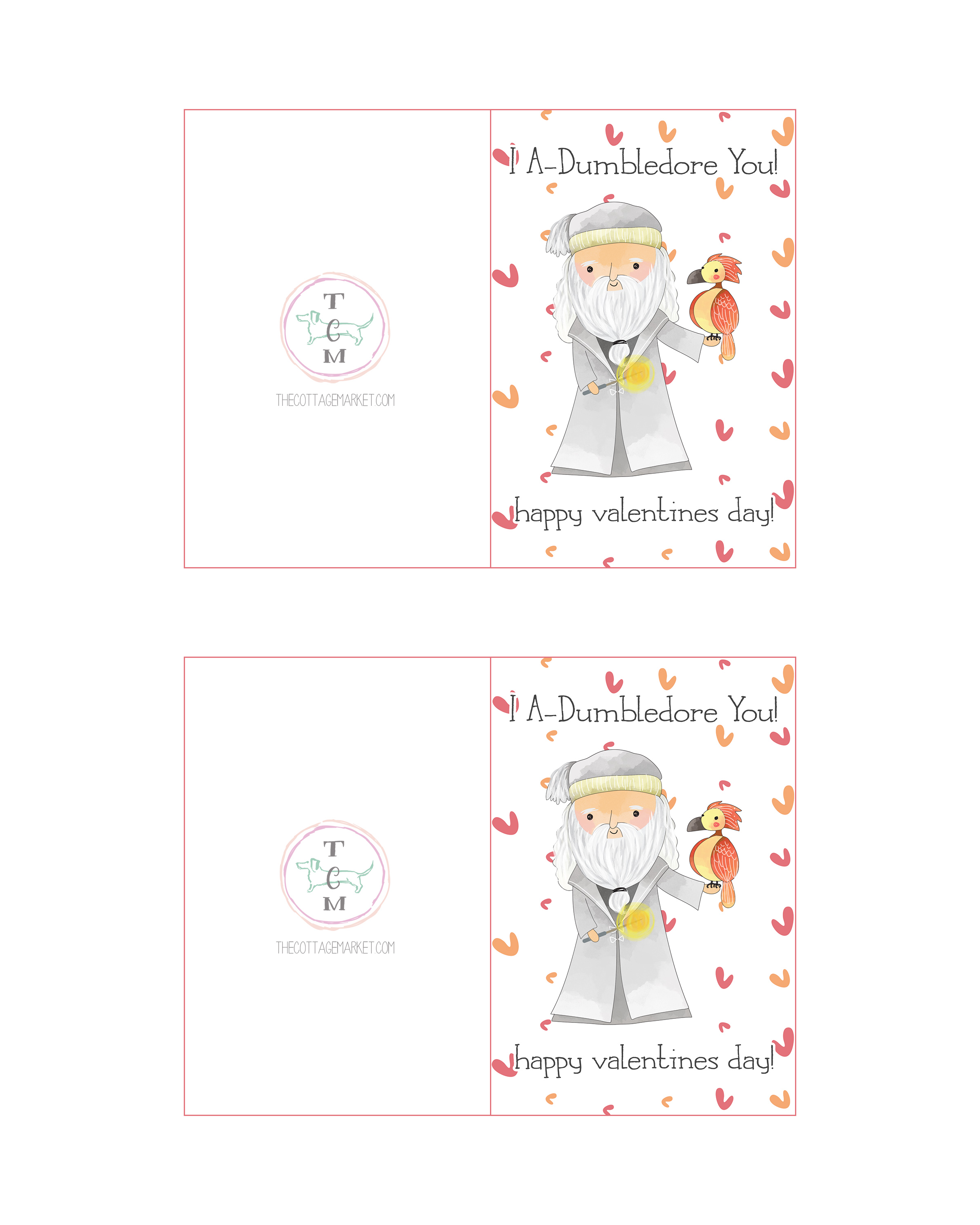 Free Printable Harry Potter Valentines Day Cards The Cottage Market – Valentines Day Cards Free Printable