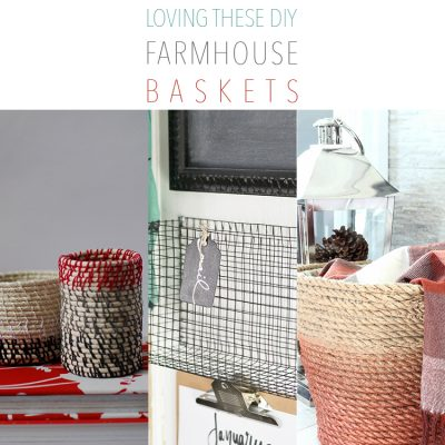 Loving these DIY Farmhouse Baskets