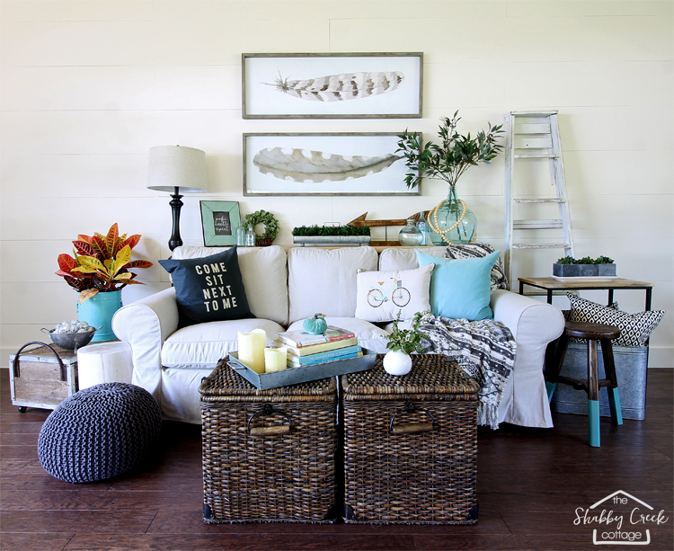 Adding A Hanging Basket To A Coffee Table