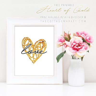 Free Printable Heart of Gold Print