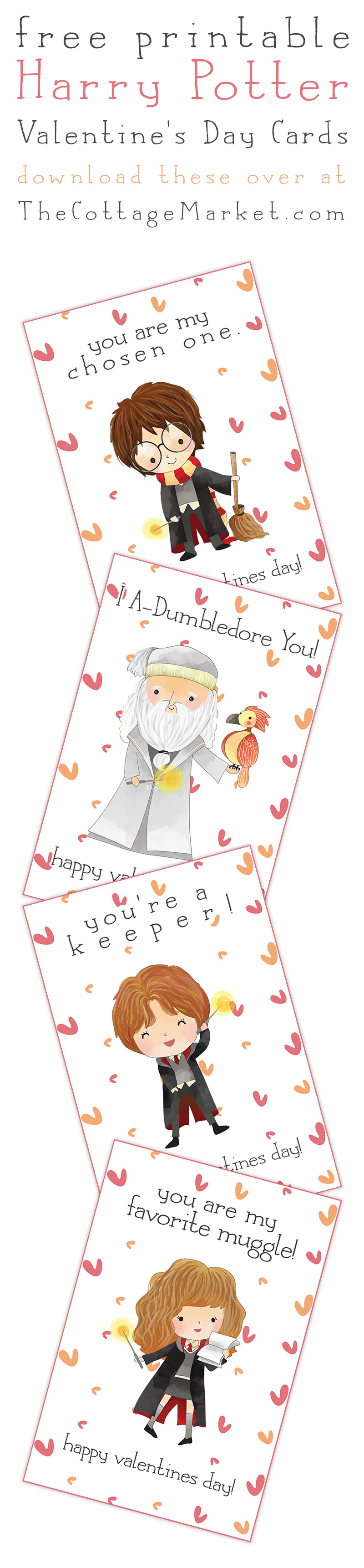 Keep Your Eyes Out For More Free Printables With Heart! These Printables  Are For Personal Use Only. Harry Potter Card