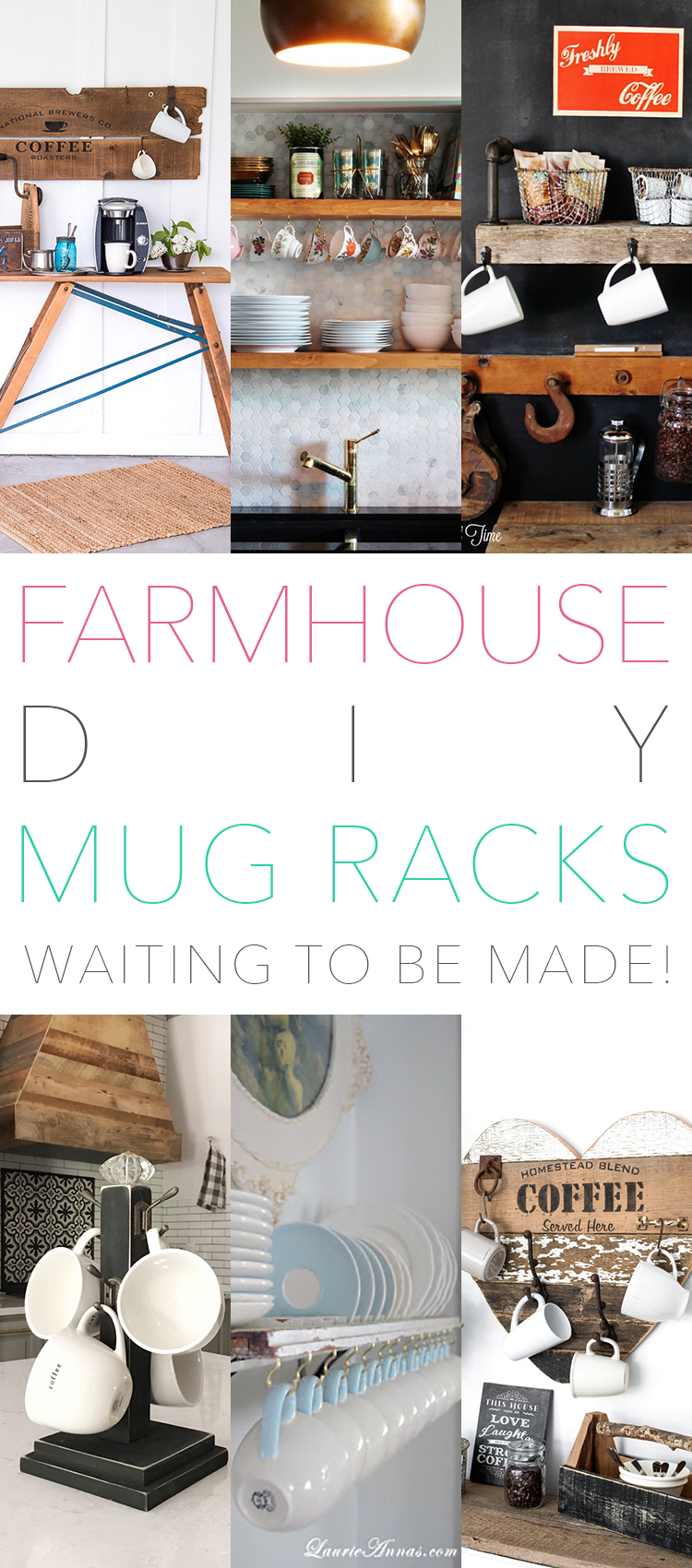 Farmhouse DIY Mug Racks waiting to be made