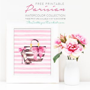 Free Printable Parisian Watercolor Collection