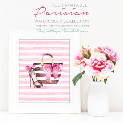 Free Printable Parisian Watercolor Collection