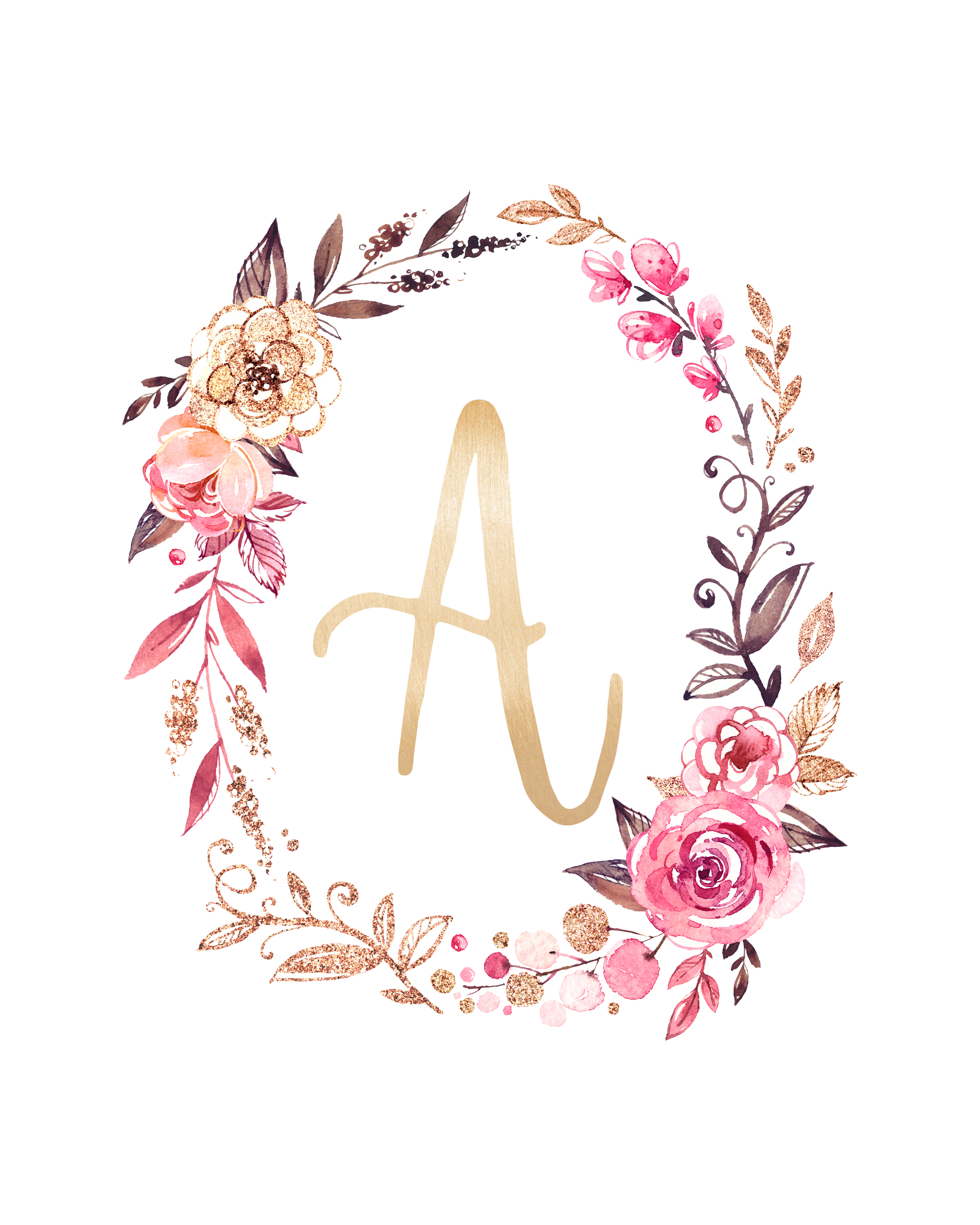 Resource image for free monogram printable
