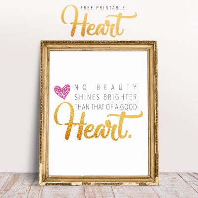 Free Printable Heart Quote Print /// Available in 5×7 and 8×10