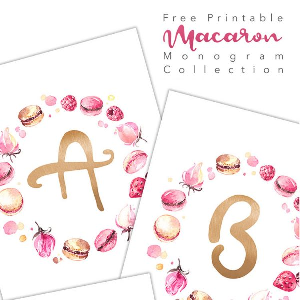 Free Printable Macaron Monogram Collection