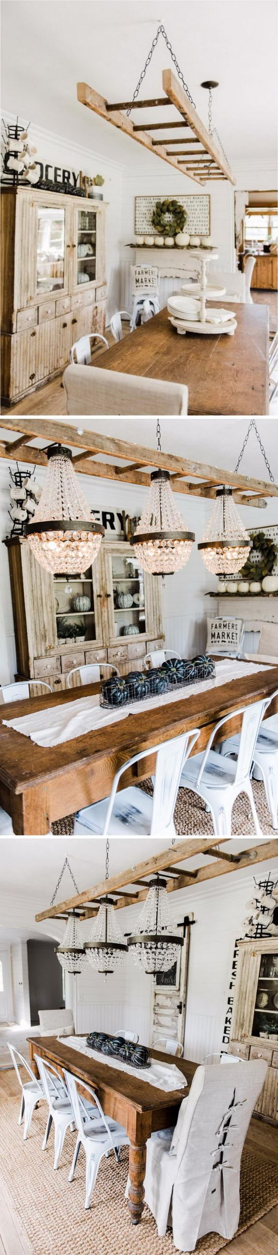 47 Ideas For Repurposing Old Ladders Farmhouse Style