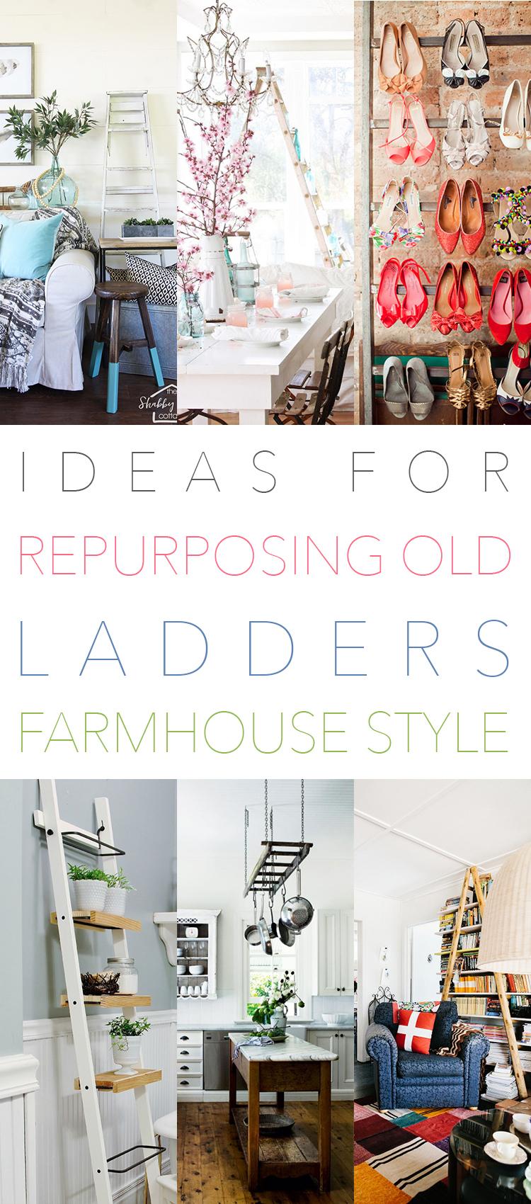 Fabulous Farmhouse Ladder DIYS and Ideas
