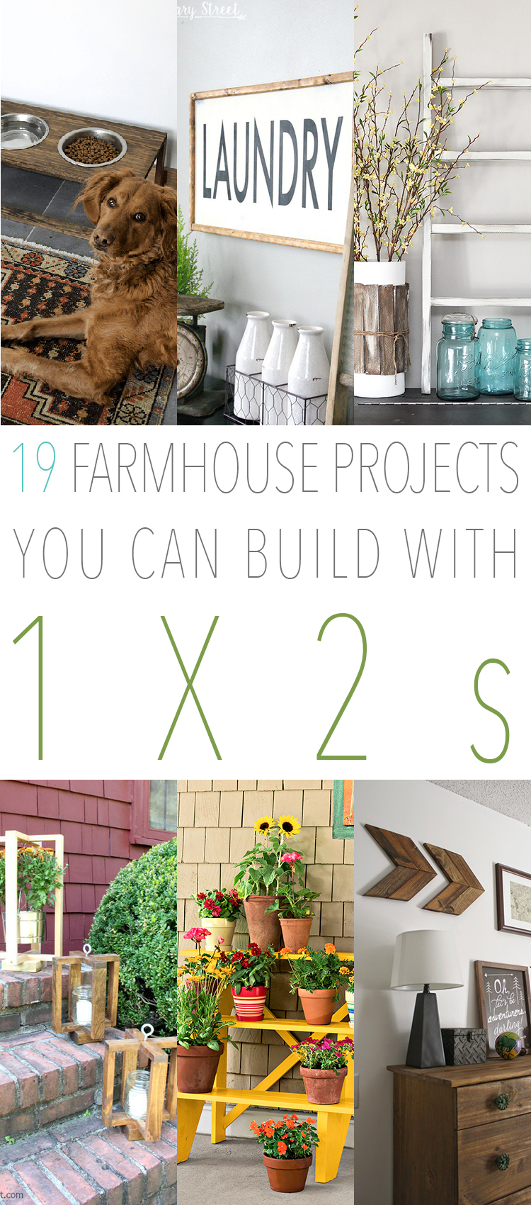 19 Farmhouse Projects You Can Build with 1X2's