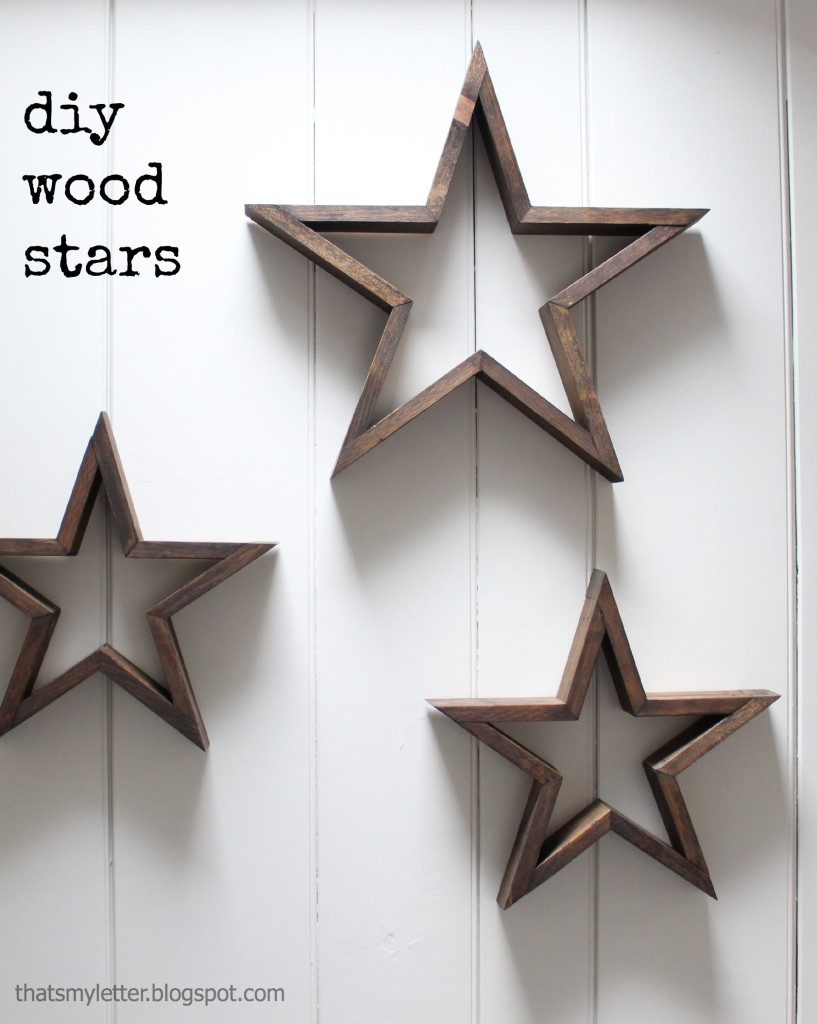 These farmhouse style wooden stars are so simple to make and they're perfect decoration