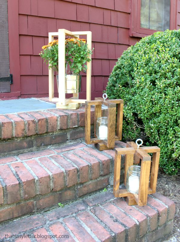 These rustic farmhouse lantern frames would look great on your front porch